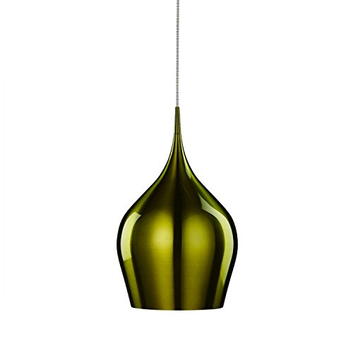 Searchlight Vibrant Single Ceiling Light Pendant Light (26cm, 6461-26GR, green) from Searchlight