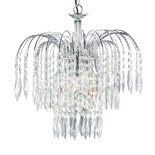 Waterfall 3 Light Crystal Chandelier Finish: Chrome from Searchlight