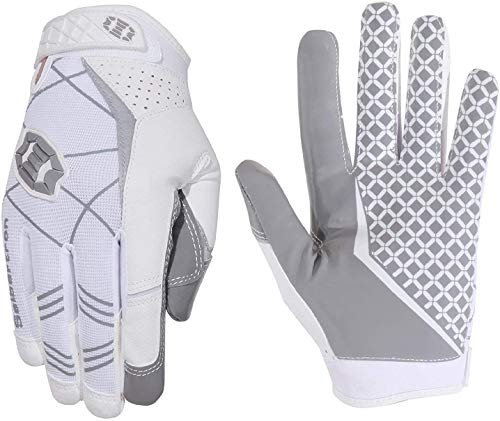 Seibertron Pro 3.0 Elite Ultra-Stick Sports Receiver Glove American Football Gloves Youth and Adult (White, L) from Seibertron