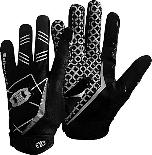 Seibertron Pro 3.0 Elite Ultra-Stick Sports Receiver Glove American Football Gloves Youth and Adult Black S from Seibertron