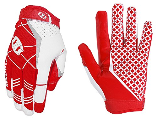 Seibertron Pro 3.0 Elite Ultra-Stick Sports Receiver Glove Football Gloves Youth and Adult (Red, M) from Seibertron