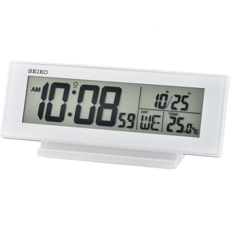 Seiko Clocks LCD Thermometer Desk Alarm Clock from Seiko Clocks