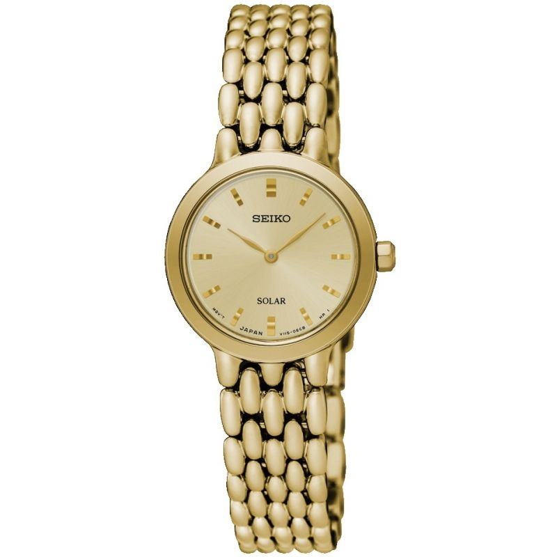 Ladies Seiko Dress Solar Powered Watch from Seiko