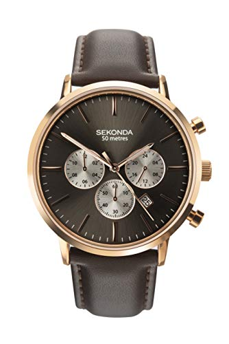SEKONDA Mens Multi dial Quartz Watch with Leather Strap 1659.27 from Sekonda