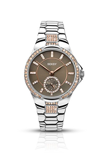 Sekonda Women's Quartz Watch with Grey Dial Analogue Display and Silver Bracelet 2182.37 from Sekonda