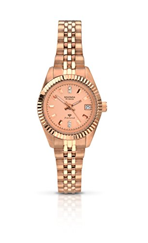 Sekonda Women's Quartz Watch with Rose Gold Dial Analogue Display and Rose Gold Stainless Steel Bracelet 2063.27 from Sekonda
