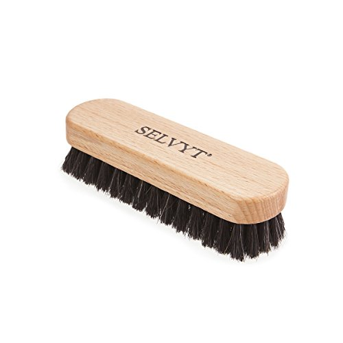 Selvyt Beechwood Luxury Horse Hair Buffing and Polishing Brush for Shoes and Boots (Small, Black) from Selvyt
