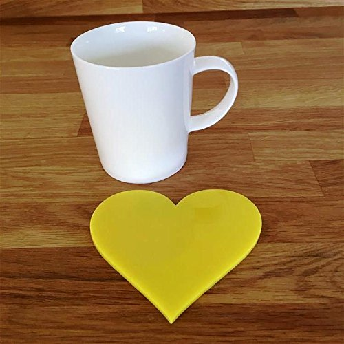 Heart Shaped Coaster Set - Yellow - Set of 4 from Servewell