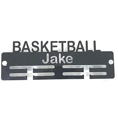 "Servewell Personalised""Basketball"" Medal Hanger - Lime Green from Servewell"