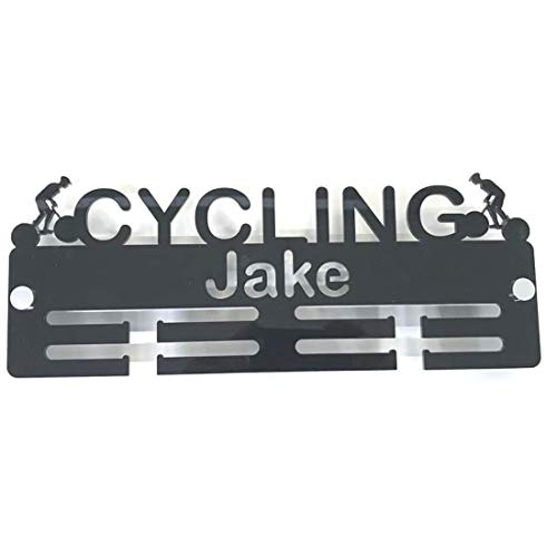 "Servewell Personalised""Cyclist"" Medal Hanger - Bright Blue from Servewell"