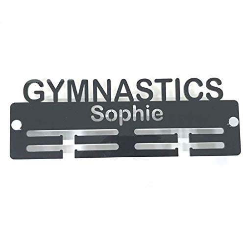 "Servewell Personalised""Gymnastics"" Medal Hanger - Pink from Servewell"