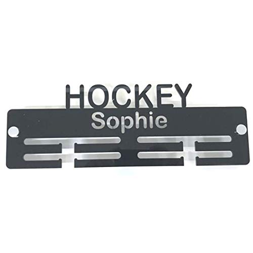 "Servewell Personalised""Hockey"" Medal Hanger - Bright Blue from Servewell"