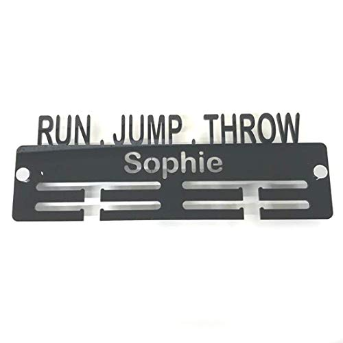 "Servewell Personalised""Run, Jump, Throw"" Medal Hanger - Lime Green from Servewell"