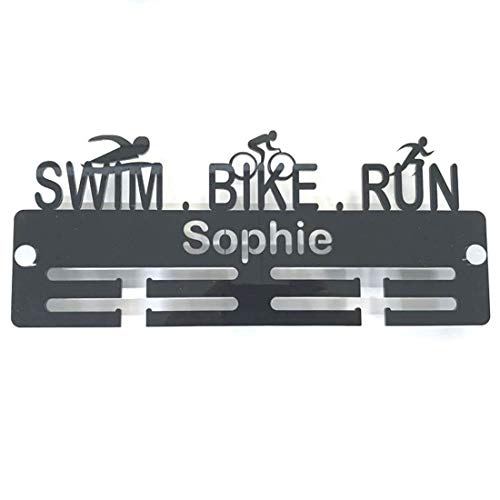 "Servewell Personalised""Swimmer, Biker, Runner"" Medal Hanger - Bright Green from Servewell"