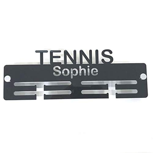 "Servewell Personalised""Tennis"" Medal Hanger - Bright Blue from Servewell"