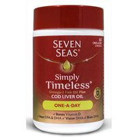 Seven Seas Simply Timeless Omega-3 Fish Oil Plus Cod Liver Oil 60 One a Day Capsules from Seven Seas