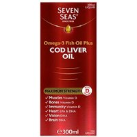 Seven Seas Extra High Strength Cod Liver Oil 300ml from Seven Seas