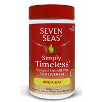 Seven Seas Simply Timeless Omega-3 Fish Oil Plus Cod Liver Oil 120 One a Day Capsules from Seven Seas