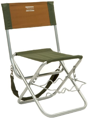 Shakespeare Folding Chair With Rod Rest - Brown/Green, 100 Kg from Shakespeare