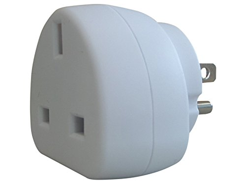 ShaniTech Earthed Travel Adaptor for Travellers to USA Canada - Refer to Description for full country list - White from ShaniTech