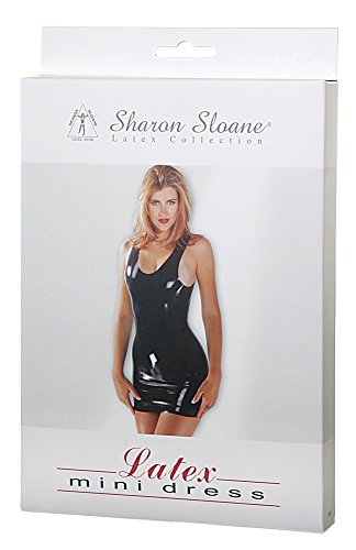 Sharon Sloane Latex Mini Dress Black Medium from Sharon Sloane