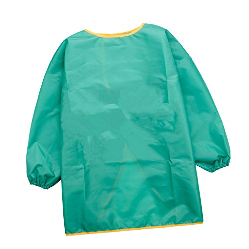 Sharplace Long Sleeve Apron Drawing Painting Sand Tower Smock Kids Children Craft Art S/M/L - Green, M from Sharplace
