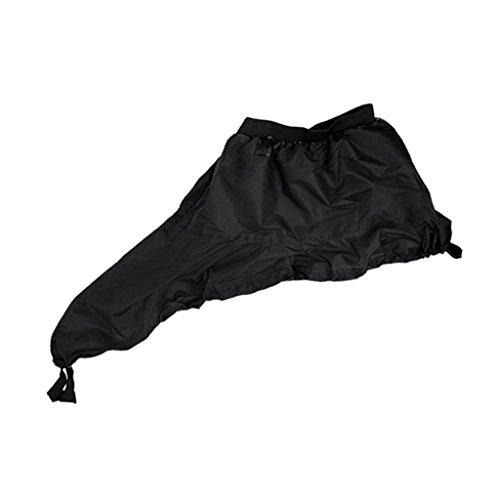 Sharplace Waterproof Spray Skirt Deck Sprayskirt Cockpit Cover Universal for Kayak, Canoe, Boat and Water Sports - Black, M from Sharplace