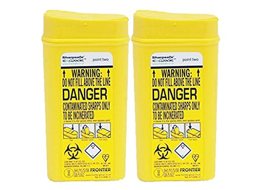 Sharpsafe Disposable Sharps Bin 0.2 litre - Pack of 2 from Sharpsafe