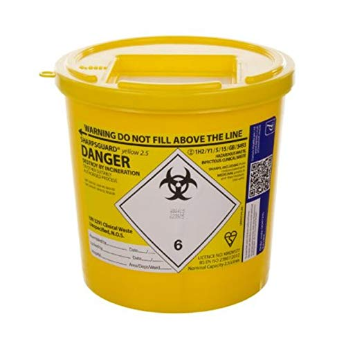 Sharpsguard Sharps Bin 2.5 litre - Yellow from Sharpsguard