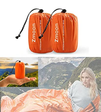 Shayson Survival Sleeping Bag, Emergency Bivvy Bag PE Aluminum Film for Outdoor Camping and Hiking from Shayson