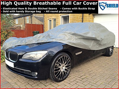 Shield AutoCare CC4439 - HIGH QUALITY BREATHABLE FULL CAR COVER-WATER RESISTANT FULL CAR COVER -DOUBLE STITCHED SEAMS & ELASTIC HEM FULL CAR COVER from Shield AutoCare