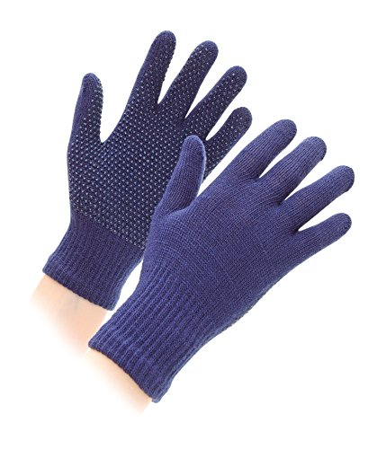 Shires Equestrian Kid's Sure Grip Gloves - Navy, One-Size from Shires