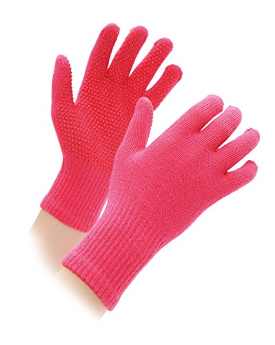 Shires Equestrian Kid's Sure Grip Gloves - Pink, One-Size from Shires