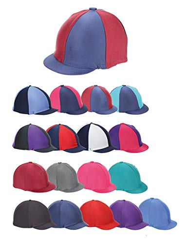 Shires Stretch Hat Cover-Purple One Size from Shires