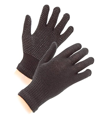 Shires Women's Equestrian Sure Grip Horse Riding Gloves, Black, One Size from Shires