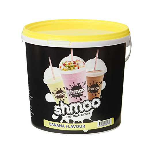 Banana Shmoo Milkshake Mix 1.8kg Tub with FREE Cups, Lids & Straws (Large Cup Pack) from Shmoo
