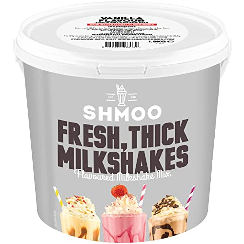 Vanilla Shmoo Milkshake Mix 1.8kg Tub with FREE Cups, Lids & Straws (Small Cup Pack) from Shmoo