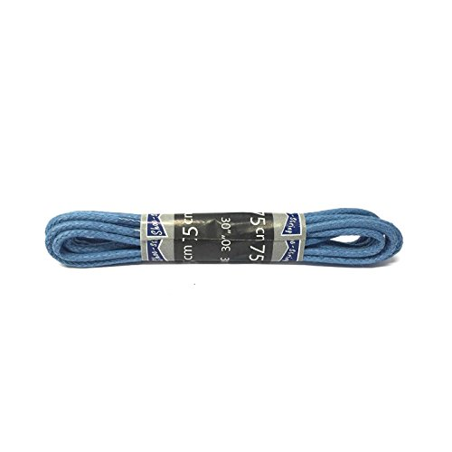 Waxed laces 2.5mm round great colours - lengths 60cm and 75cm (75cm, Royal Blue) from Shoe String