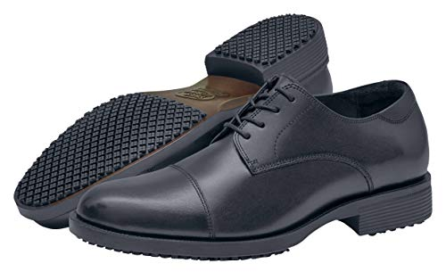 Shoes for Crews 1201-09-47/12/13 SENATOR Men's Lace-up Leather Smart Shoe Non Slip, 12 UK, BLACK - EN safety certified from Shoes for Crews