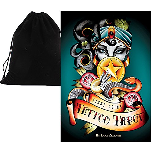 Shop4top Eight Coins Tattoo Tarot Cards Deck and Bag from Shop4top