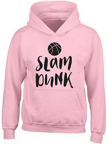 Shopagift Slam Dunk Basketball Kids Childrens Hooded Top Hoodie Pink from Shopagift