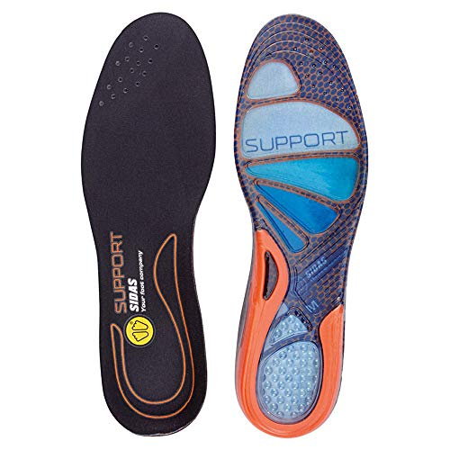 Sidas Joint Support Gel Cushioning Insole, unisex, Cushioning Gel Support, Blue/Orange, S : 37-38 from Sidas