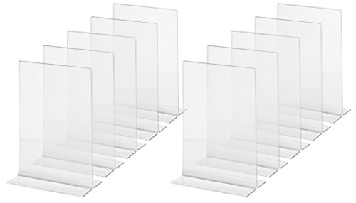 Sigel 1.8mm A5 Acrylic Table-Top Display Upright Frame - Clear, pack of 10 from Sigel