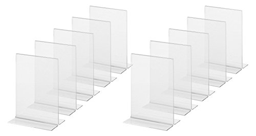SIGEL TA226 Sign Holder, upright, for A6, double-sided presentation, acrylic, transparent, 10 pcs. from Sigel