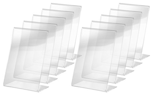 SIGEL TA214 Sign Holder, slanted, for A6, single-sided presentation, acrylic, transparent, 10 pcs. from Sigel