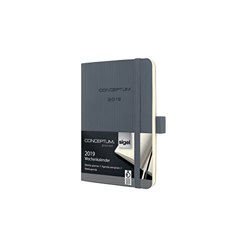 Sigel C1937 A6 Softcover Conceptum 2019 Weekly Planner - Dark Grey from Sigel