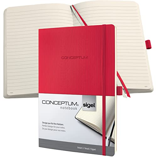 Sigel CONCEPTUM A4 Lined Softcover Notebook - Red from Sigel