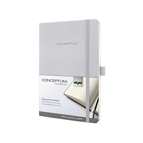 Sigel CO322, CONCEPTUM Notebook, approx. A5, squared, softcover, light grey from Sigel