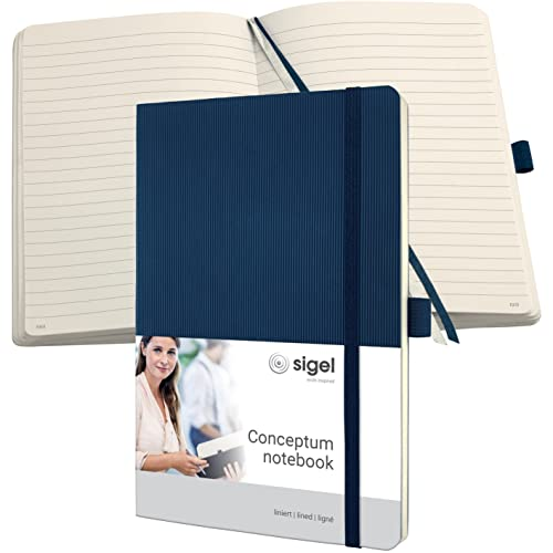 Sigel CO327, CONCEPTUM Notebook, approx. A5, lined, softcover, midnight blue from Sigel