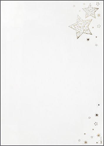 "SIGEL DP051 Christmas Motif Paper ""Golden Glow"", A4, 90 gsm, 100 sheets from Sigel"